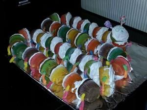 caterpillar cupcakes for SRP