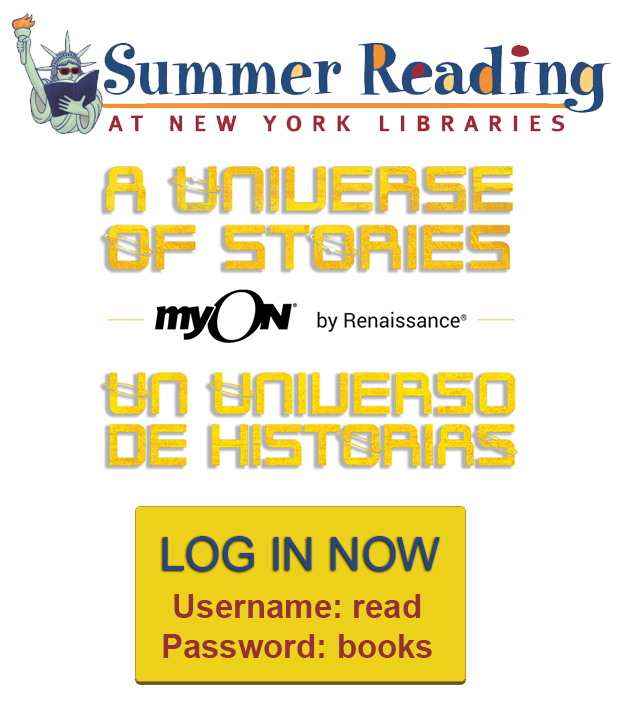 photo about Library Story Password known as myOn Summer time Reading through at Fresh new York Libraries